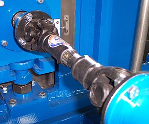 Universal joint - Universal joints in a driveshaft