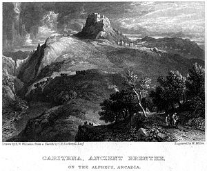 Geoffrey of Briel - View of Karytaina and its castle