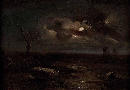 Carl Gustav Carus - Mondscheinlandschaft