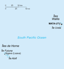 Mapa Wallis i Futuny