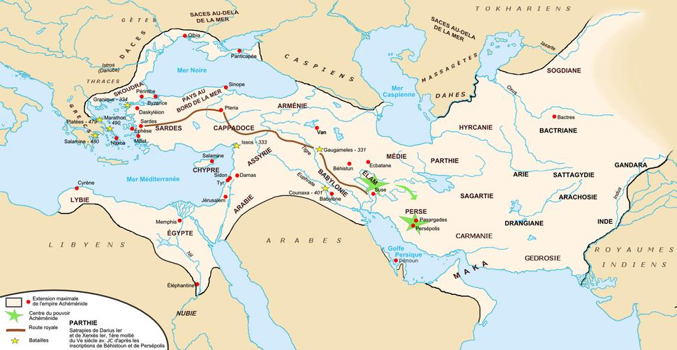 Carte empire achéménide
