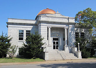 National Register of Historic Places listings in Jasper County, Missouri - Image: Carthage Carnegie Library