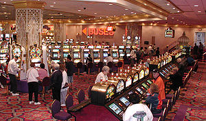 Casino - Slot machines in Atlantic City. Slot machines are a standard attraction of casinos