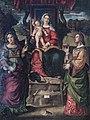 Cathedral (Vicenza) - Interior - Quaresima Cappella a sinistra- Madonna col bambino tra le Sante Maddalena e Lucia, da Bartolomeo Montagna.jpg