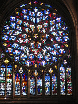 Rose Window From The Transept Of Sens Cathedral