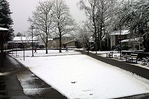 Catlin Gabel School - Image: Catlin Gabel Commons during Snow