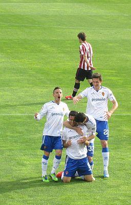 Celebracion Real Zaragoza 2013 postiga