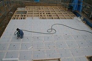 Cellulose insulation - insulation of the floor