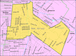 Census Bureau map of Cresskill, New Jersey
