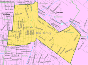 Cresskill, New Jersey - Image: Census Bureau map of Cresskill, New Jersey
