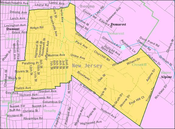 Census Bureau map of Cresskill, New Jersey