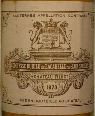Château Filhot - Image: Château Filhot 70 detail
