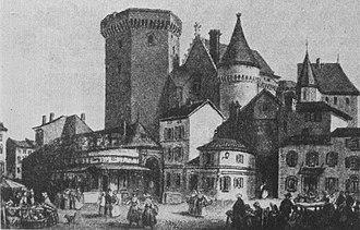Edward of Angoulême - The Château d'Angoulême, c. 1800s.