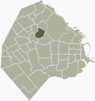 Chacarita, Buenos Aires - Image: Chacarita Buenos Aires map