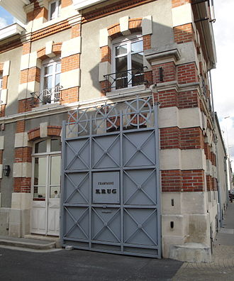 Champagne Krug - Entrance to Krug's facilities in Reims.
