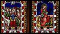 Chapelle St Laurent, 4e verrière Ascension et Vierge couronnée (v. 1330).jpg