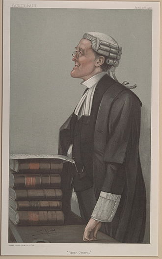 "Charles Cripps, 1st Baron Parmoor - ""Vicar General"". Caricature by Spy published in Vanity Fair in 1902."