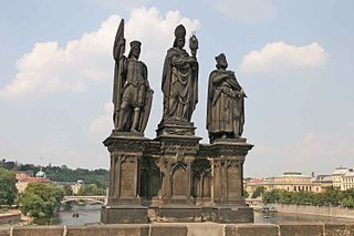 Statues of Saints Norbert, Wenceslaus and Sigismund