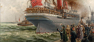 The 'Kinfauns Castle' as a troopship