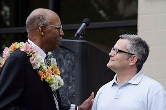 Sam Adams (Oregon politician) - Adams and Charles Jordan, July 2012