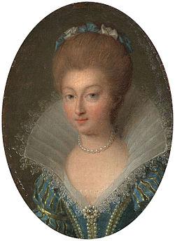 Portrait par Jean Marie Ribou (1776)