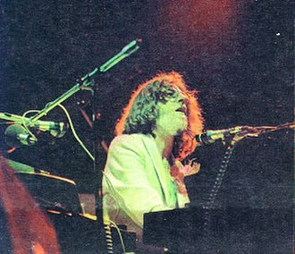 Argentine rock - Charly Garcia during Sui Generis farewell concerts, 1975
