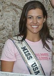 Miss USA 2005 Chelsea Cooley, who competed as Miss North Carolina USA