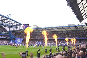 2017–18 Chelsea F.C. season - Chelsea take to the pitch at Stamford Bridge for the first home game of the 2017–18 season, August 2017