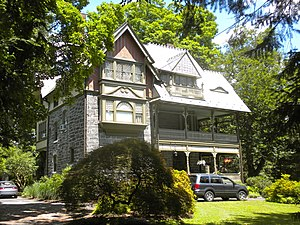 G. W. & W. D. Hewitt - Houston-Sauveur House, Chestnut Hill, Philadelphia, PA (1885). Prior to its 1887 sale to Sauveur, this probably served as a sample house for Henry H. Houston's suburban development