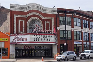 Riviera Theatre music venue and former movie theater in Chicago, Illinois