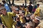 Children gathererd at the site of MHU camp (Imam Baig Mohmand Agency) (13143159165).jpg