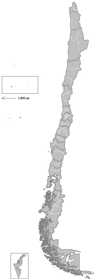 Provinces of Chile - Image: Chile provinces