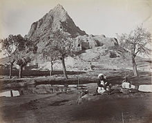 Chilzina Mountain in Kandahar in 1881.jpg