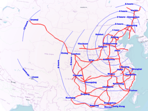 Highspeed Rail In China Wikipedia - Map of us rail network