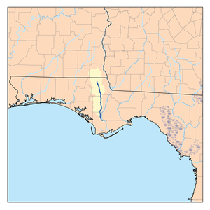 Chipola River - Image: Chipolarivermap