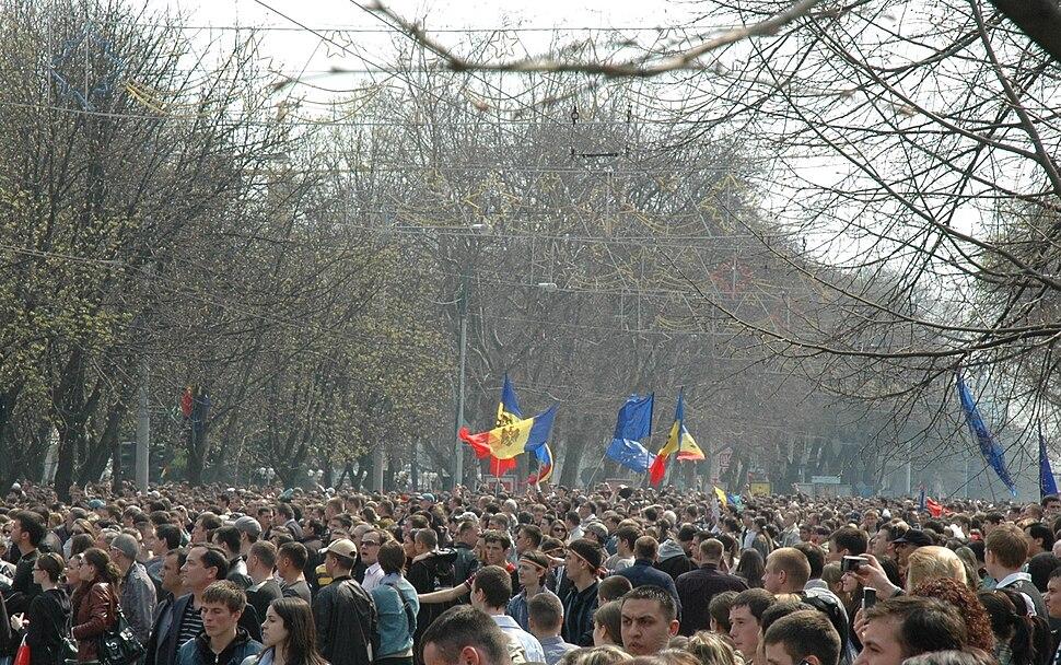Chisinau riot 2009-04-07 17