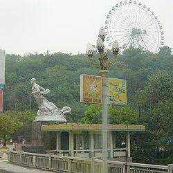 Faroles en forma de flor de magnolia en Chongqing.