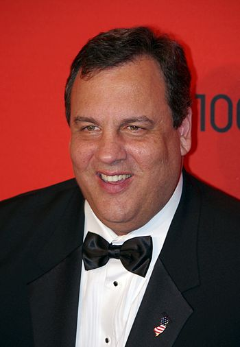 English: Chris Christie at the 2011 Time 100 gala.