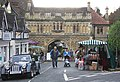 Christmas fair by the Abbey Gateway - geograph.org.uk - 1598927.jpg