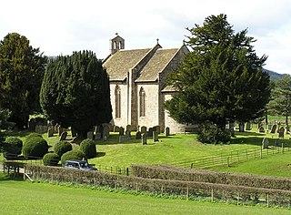 Moccas village in United Kingdom