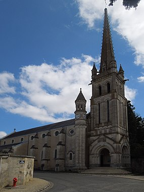 Church in St. Julien l'Ars, 17 July 2012.JPG