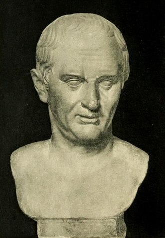 First Triumvirate - A Roman bust of Marcus Tullius Cicero, depicted here at about age sixty, in the National Archaeological Museum of Spain
