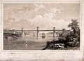 Civil engineering; the Menai box girder bridge. Lithograph b Wellcome V0024346.jpg