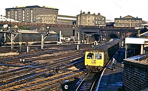 British Rail Class 105 - Class 105 at Kings Cross York Rd station on the last day of diesel services to Moorgate in 1976.