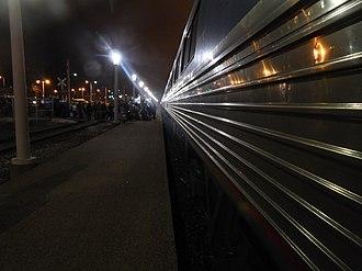 Cleveland Lakefront station - The Amtrak platform