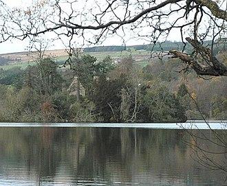 Clunie - Clunie Castle on the island in Loch of Clunie.