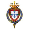 Coat of Arms of Edward, King of Portugal, KG.png