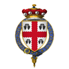 Coat of Arms of Sir John Bourchier, 2nd Baron Bourchier, KG.png