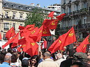 Communists marching in France on May 1, 2007.