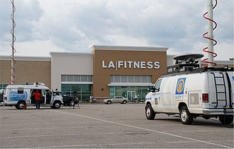 2009 Collier Township shooting - The scene in Collier Township at an LA Fitness center where the shooting took place on August 4, 2009